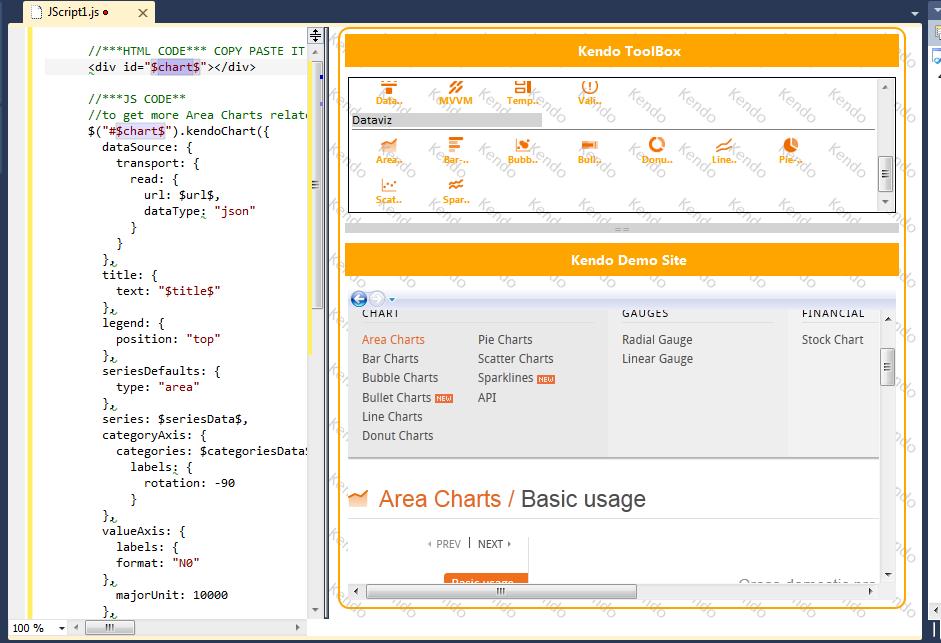 KendoUI - Visual Studio Marketplace